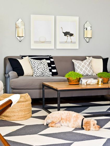 Simple Contemporary Living Room By Cynthia Lynn Photography On Houzz Living Room Design Inspiration Living Room Color Schemes Contemporary Living Room