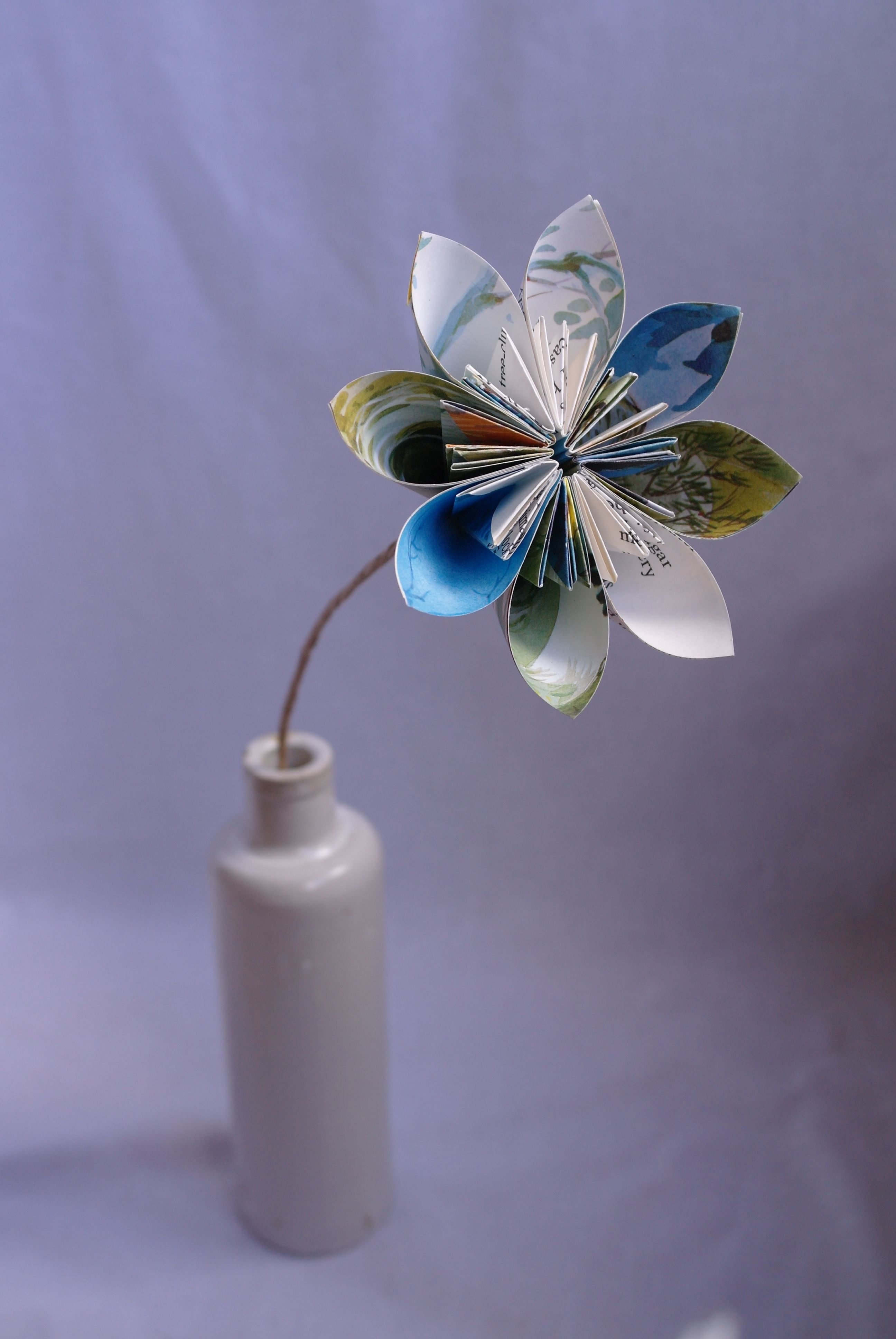 Paper Flower Made Out Of Neglected Childrens Book Paper Flowers