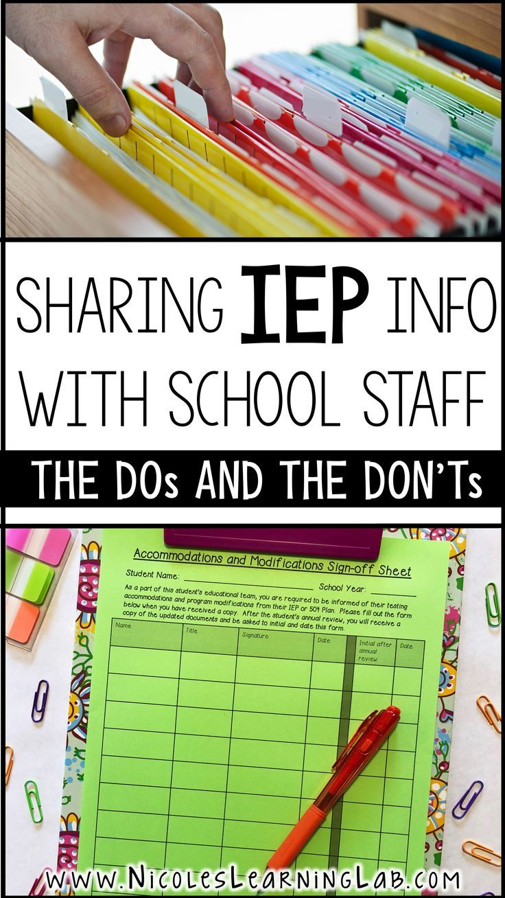 Special Education Teachers need to share student IEP