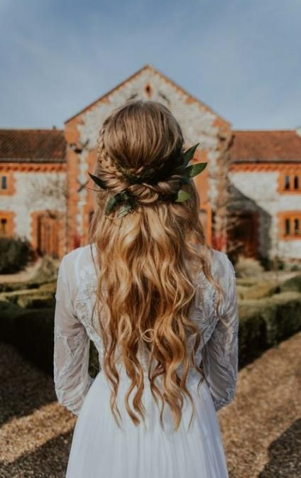 37 ideas for wedding hairstyles for long hair bohemian half up half down