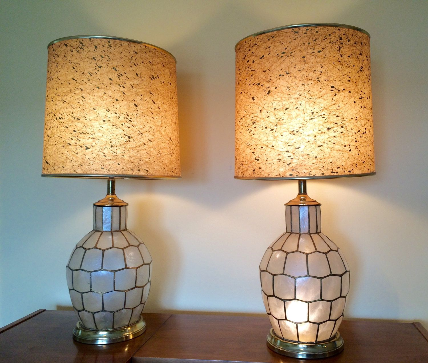 lamp lamps shell capiz guruz seashell lighting chandeliers vintage shade lampshade shells chandelier buy
