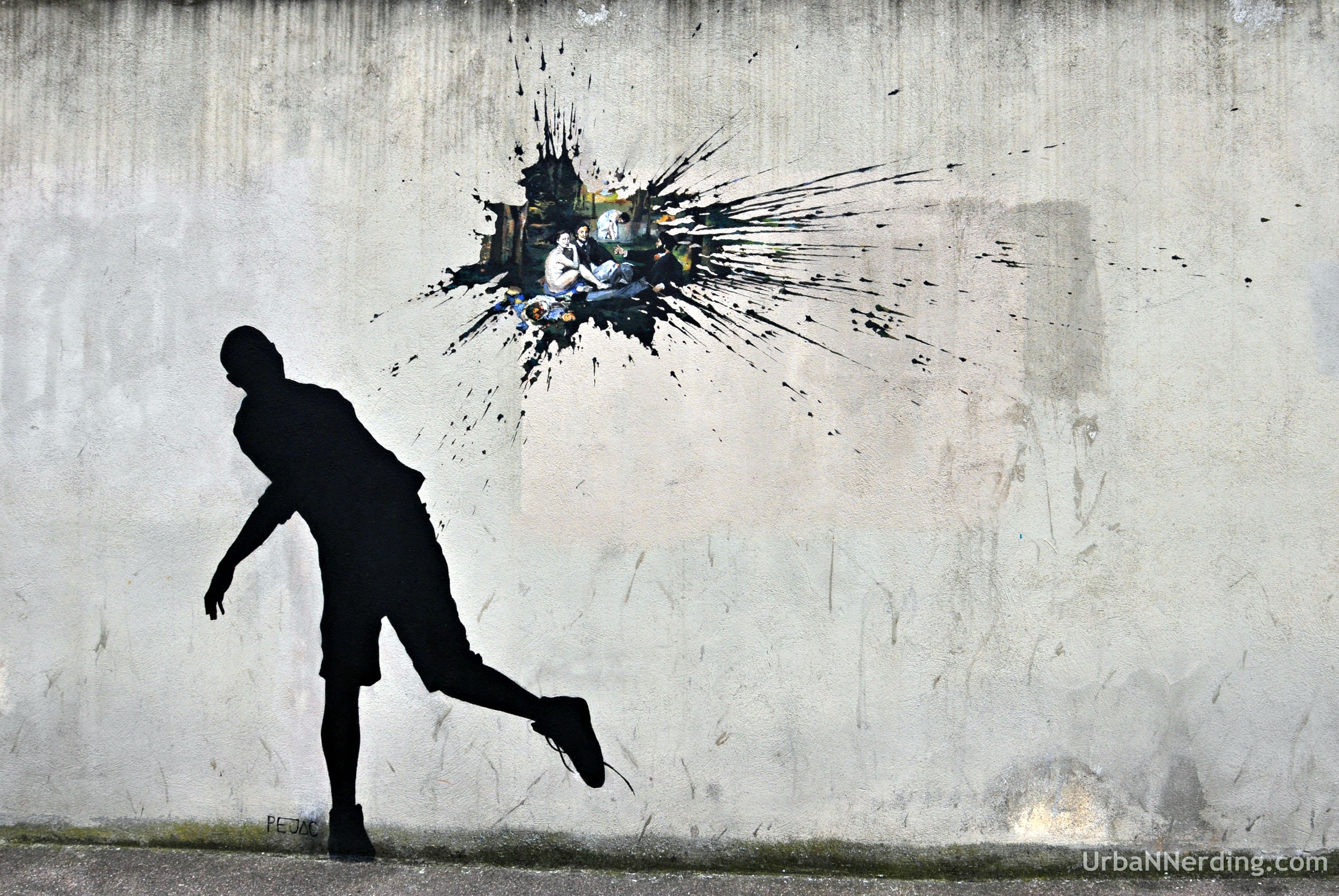 Theres A Surprise In This Paint Splat By Street Artist Pejac