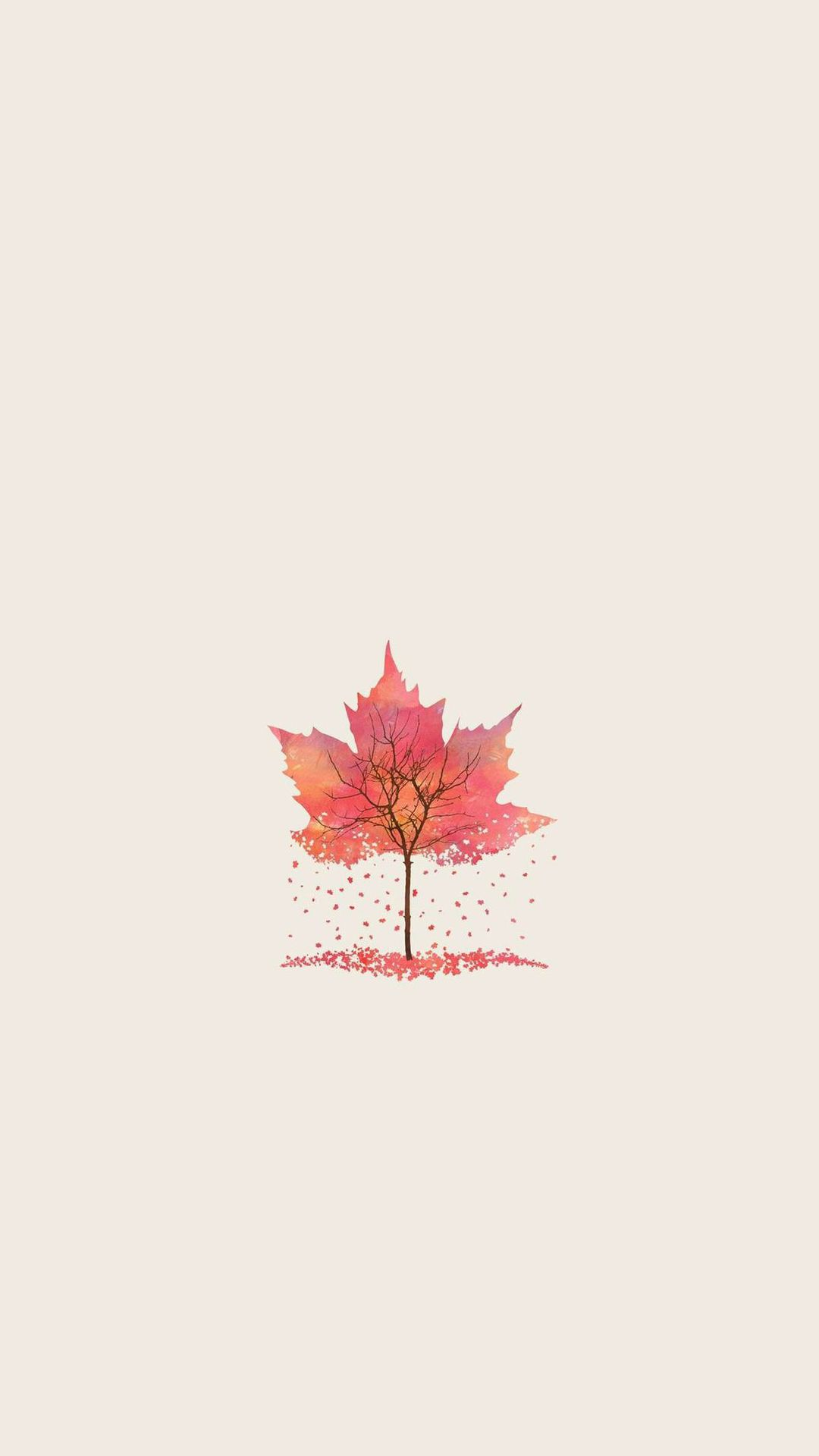 Autumn Tree Leaf Shape Illustration Iphone 6 Plus Wallpaper Autumn Leaves Wallpaper Fall Wallpaper Leaf Illustration