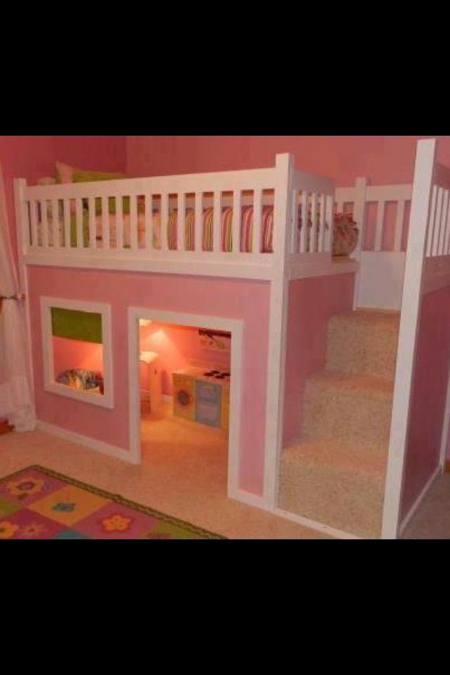 Dollhouse Bunk Bed Paint This A Different Color And It Can Be A Clubhouse Diy Toddler Bed Playhouse Loft Bed Play Houses