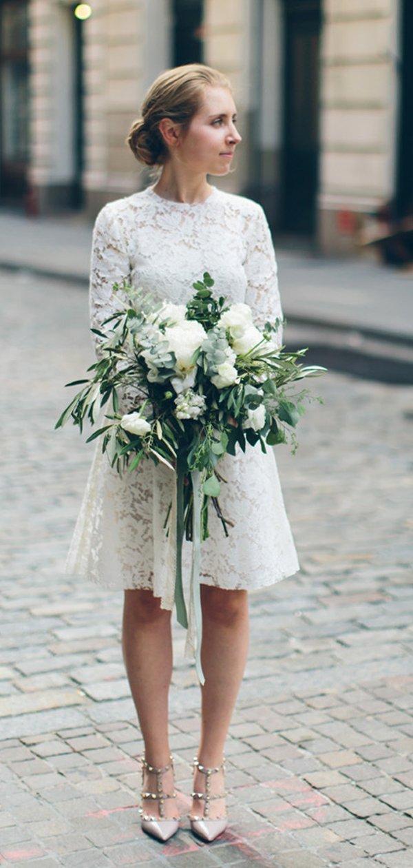 Etsy Wedding Dresses Lace Wedding Dresses Lace Reception Dress Short Wedding Dress
