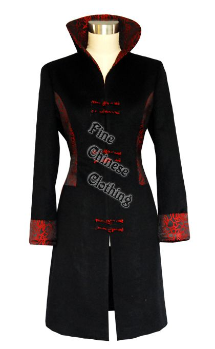 26c8005c099 FINE CHINESE CLOTHING - Women Mandarin Coats - Chinese Wool Coat - Noble  Woman