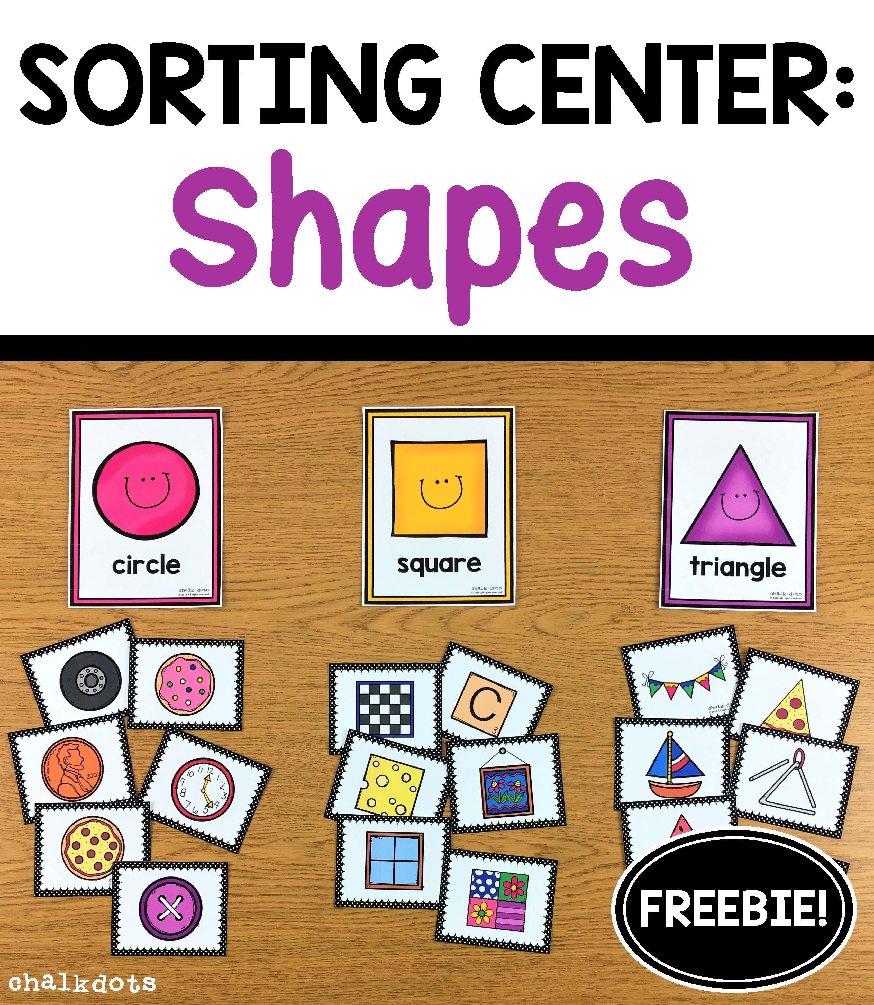 Free Shape Sorting Activity Preschool In