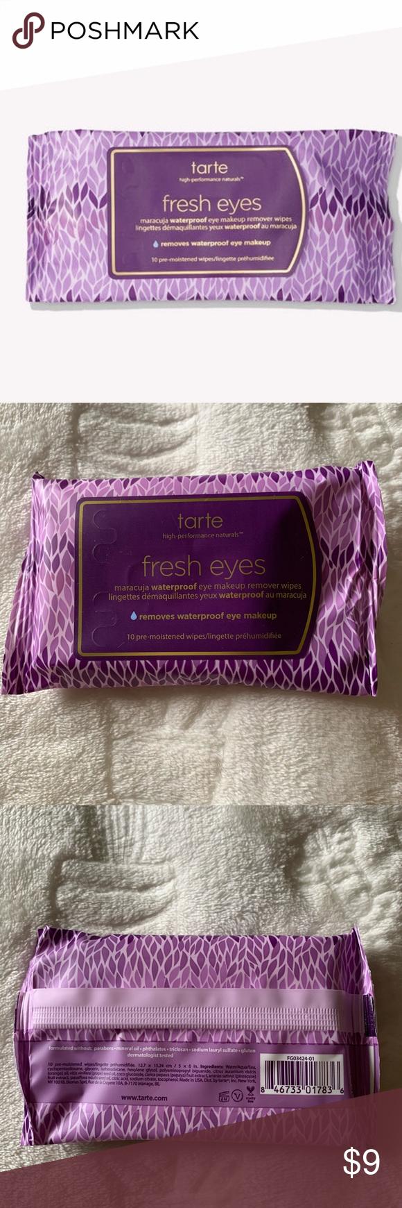 ⭐️3/15 Tarte Fresh Eyes Makeup Wipes NWT Makeup wipes