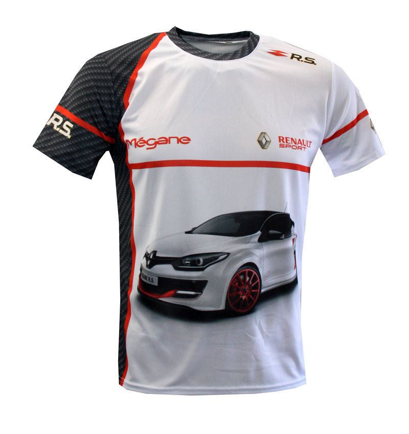Renault Sport Megane RS Full Sublimation Print T-shirt maglietta camiseta    GT 6  fanwear  GraphicTee 6d6ed24c32a0