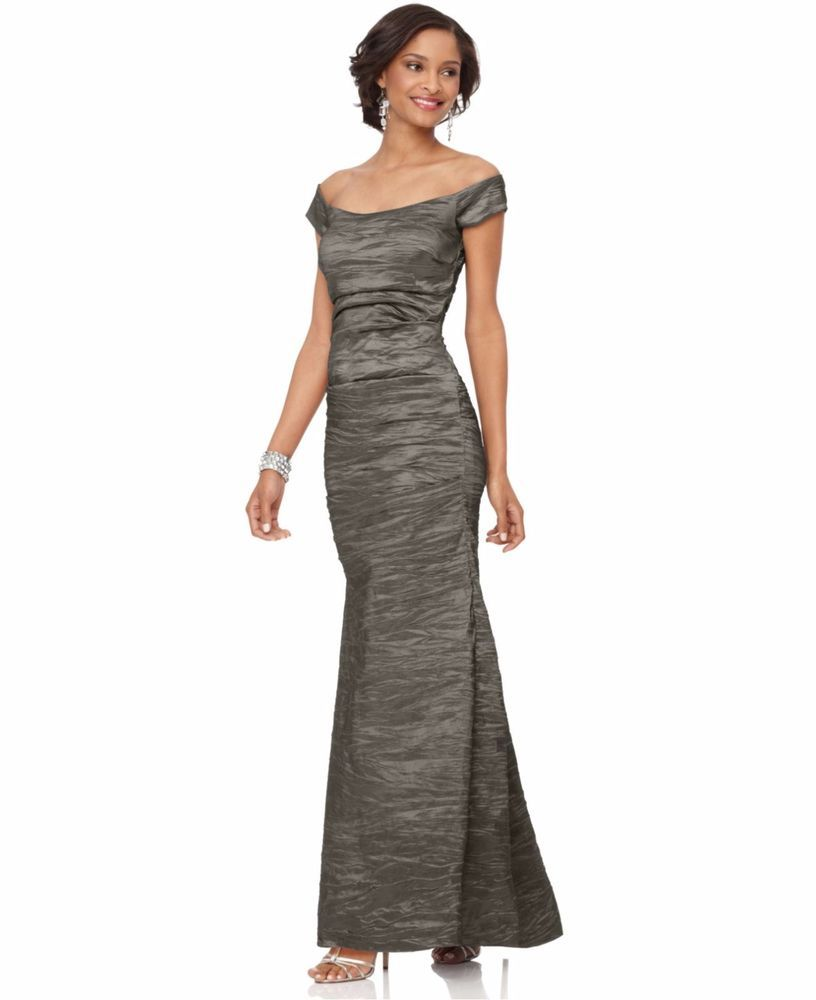 a1f814daba7 Alex Evenings Off-The-Shoulder Ball Gown Formal Wear - http