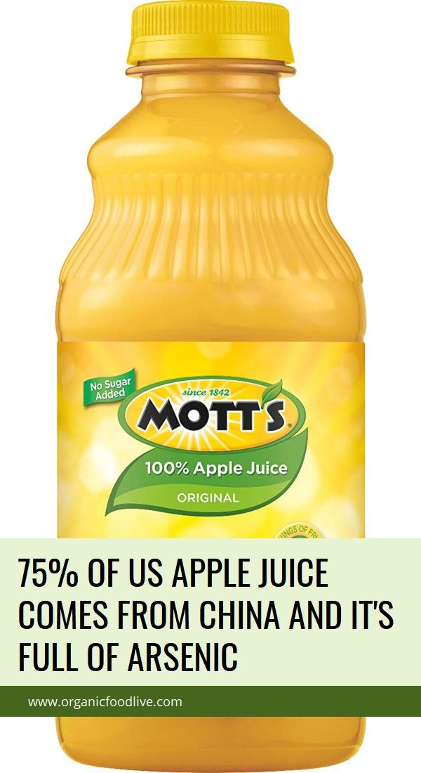 75 of US Apple Juice Comes from China and It's Full of