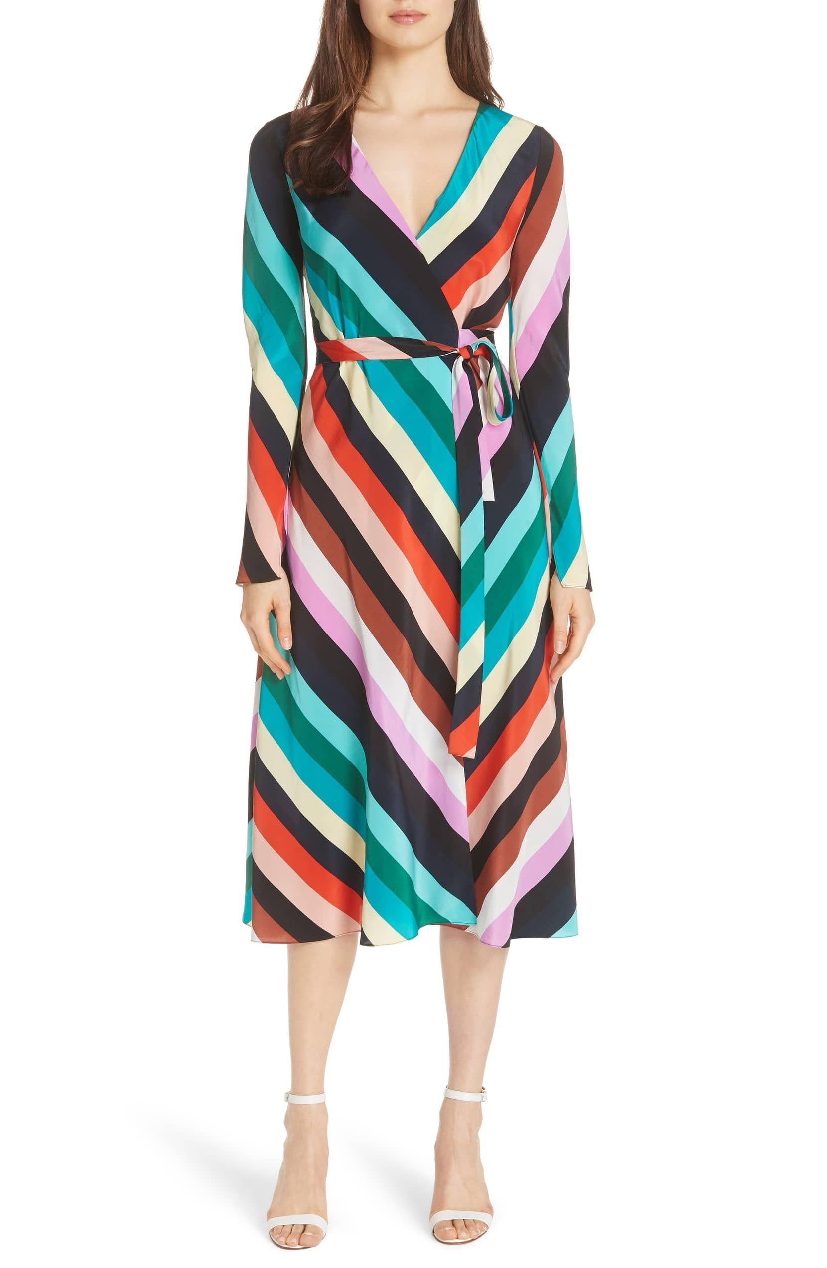 Diane Von Furstenberg Stripe Silk Wrap Midi Dress Nordstrom Wrap Midi Dress Diane Von Furstenberg Wrap Dress Stripe Silk [ 2546 x 1660 Pixel ]