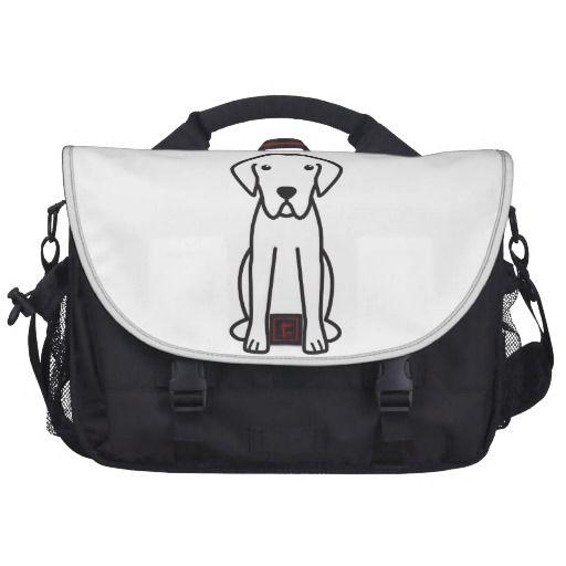 Chesapeake Bay Retriever Dog Cartoon Laptop Messenger Bag