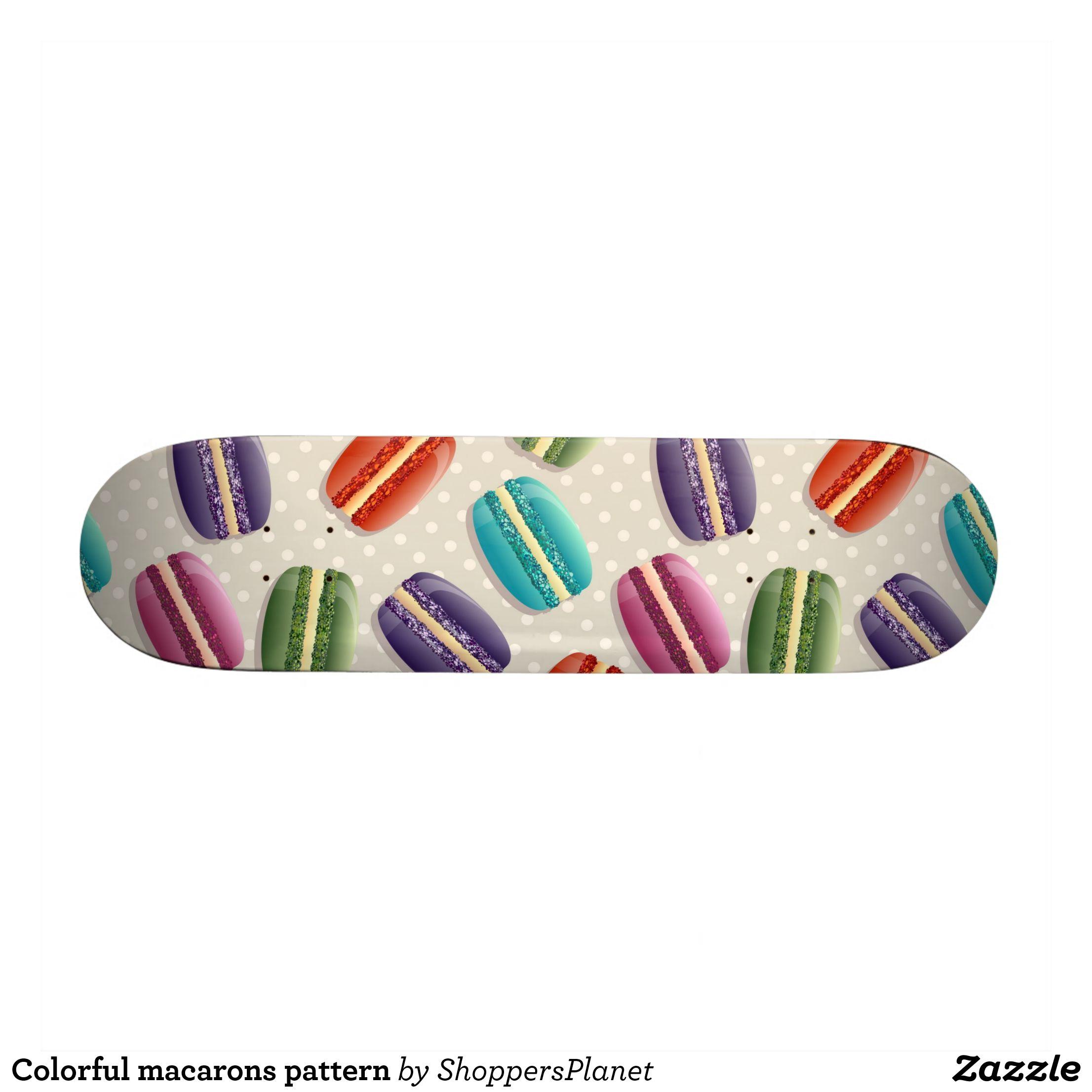 Colorful macarons pattern skateboard - Supreme Hard-Rock Maple Deck Custom Boards By Talented Fashion & Graphic Designers - #skating #skater #skateboarding #shopping #bargain #sale #stylish #cool #graphicdesign #trendy #design #designer #graphicdesigner #style