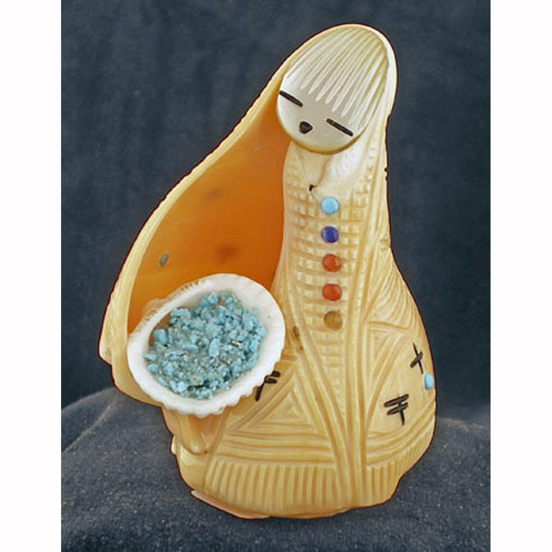 Stuart-Quandelacy-Zuni-shell-corn-maiden