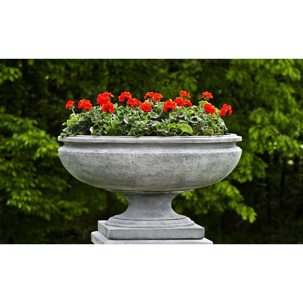 St Louis Urn Large Bowl Cast Stone Planter Kinsey Garden Decor In 2020 Stone Planters Garden Urns Patio Container Gardening