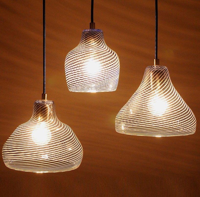 rezzan hasoglu moirai glass lamps designboom