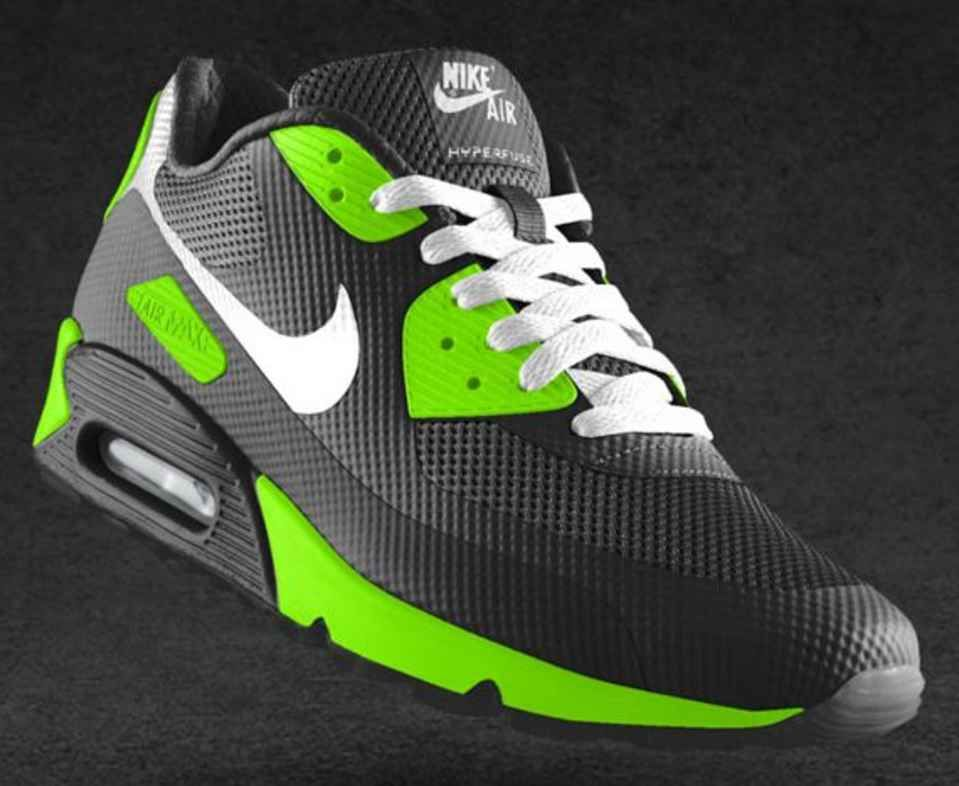 NIKEiD Air Max 90 Hyperfuse Design Options | Air max 90