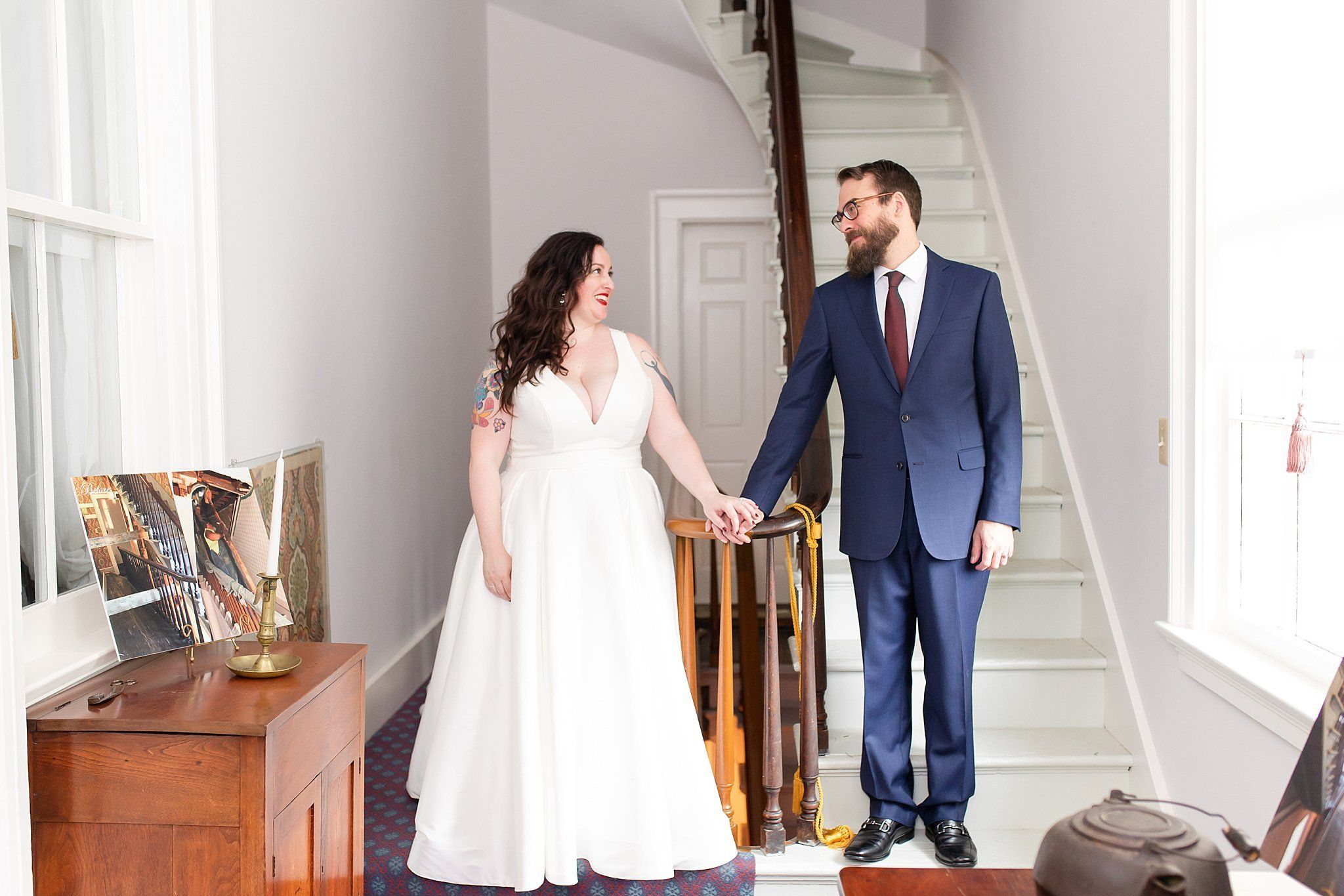 Tattooed Bride And Bearded Groom At Edwards Place Wedding In