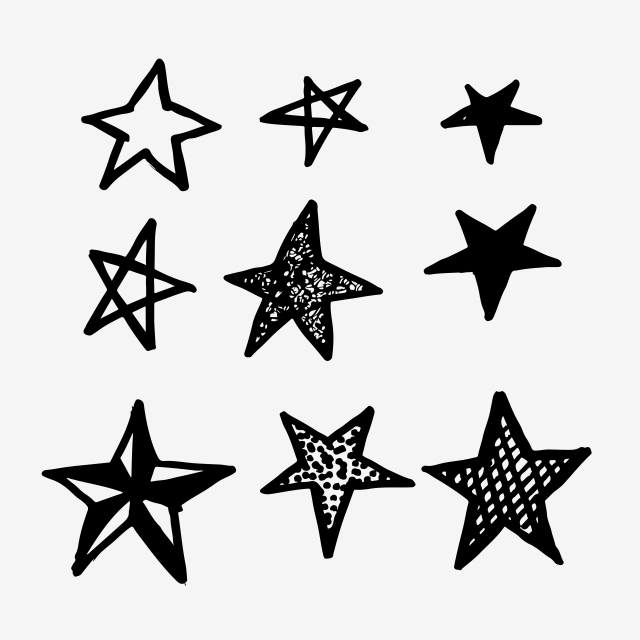 Hand Drawn Doodle Star Icon Star Clipart Star Icons Hand Icons Png And Vector With Transparent Background For Free Download How To Draw Hands Star Doodle Free Vector Illustration