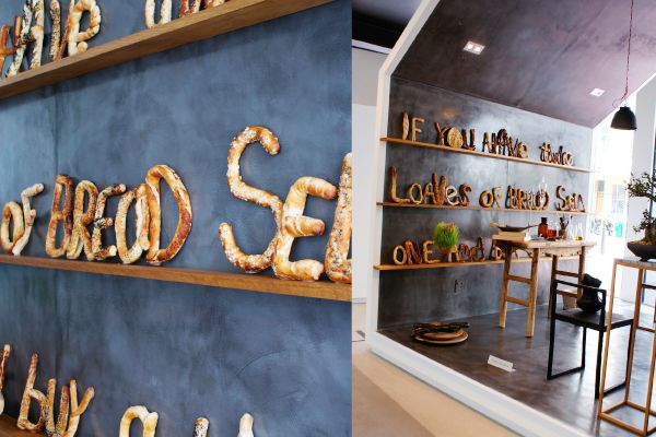 bread typography (via Freeworld Design Centre's exhibit Design For Food)