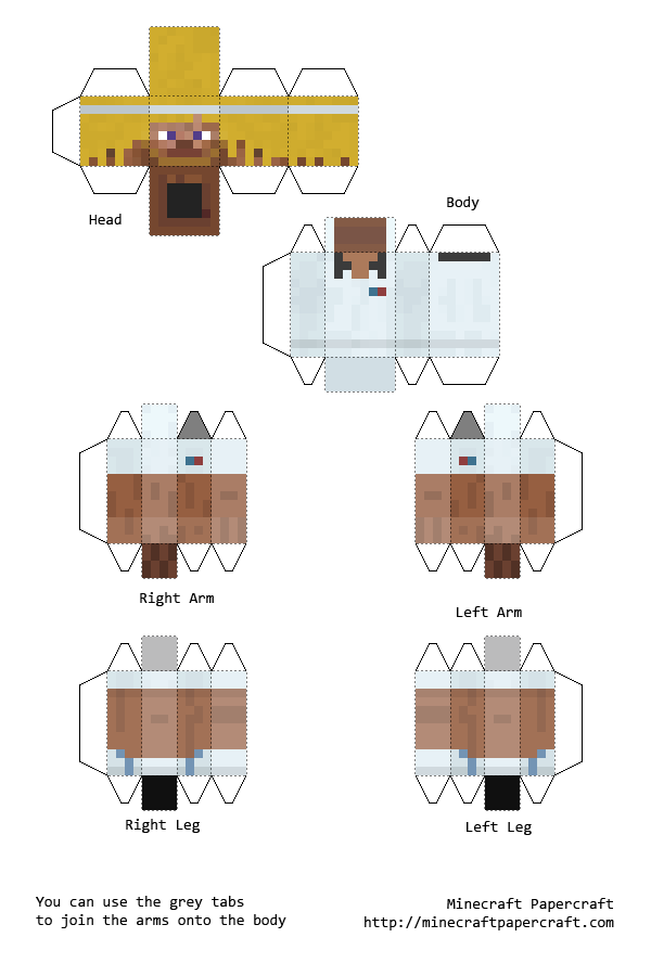 Papercraft Xbox 360 Player Skins | Minecraft | Pinterest ...