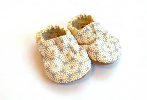 baby girl shoes sparkly gold shoes baby booties by ScooterBooties, $23.00