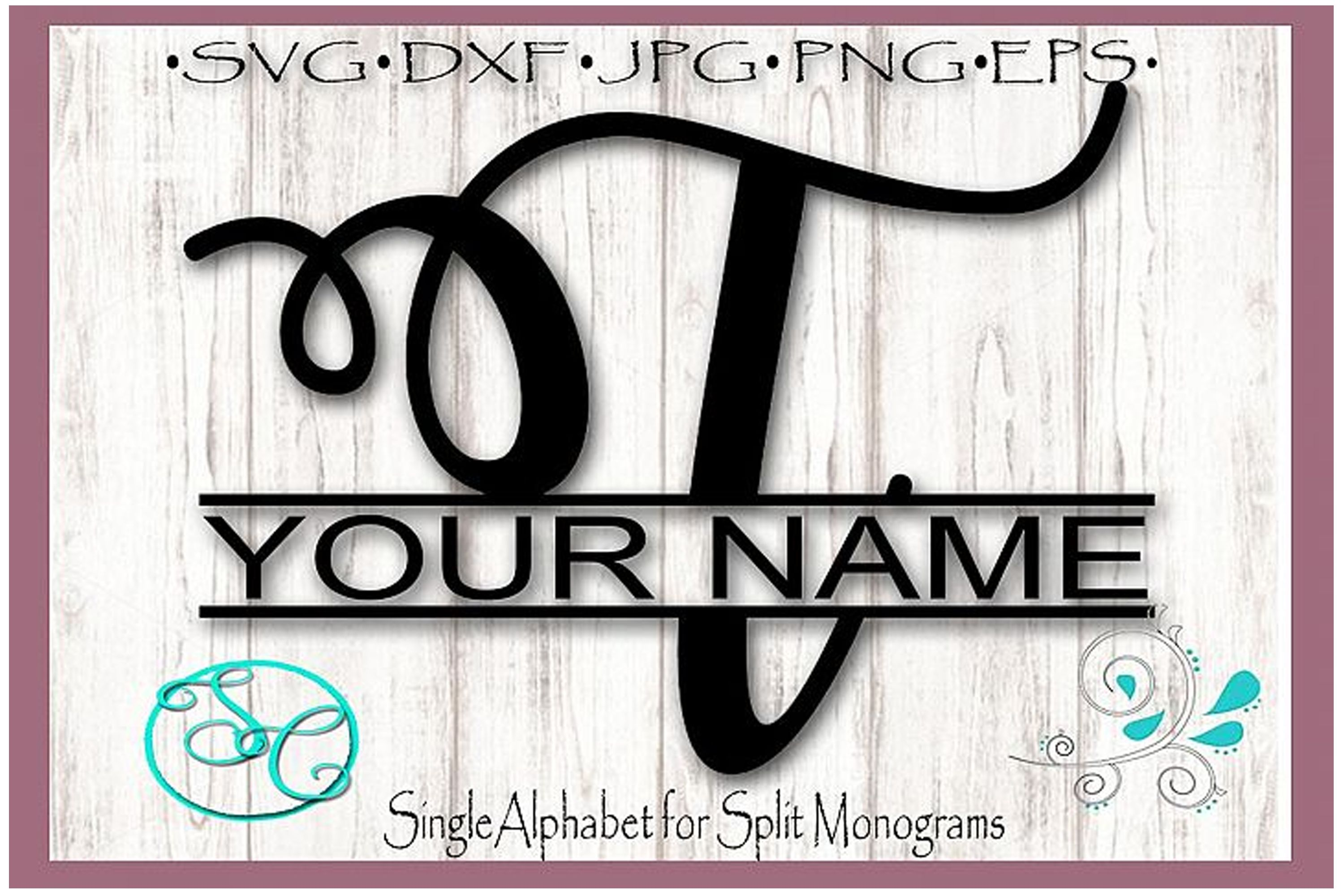 Split Monogram Letter T (Graphic) by Shannon Casper