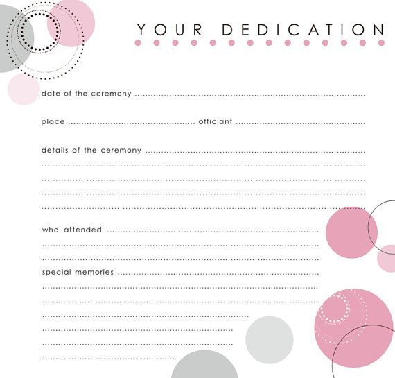 Baby Dedication  Certificate  Partay Harday    Babies