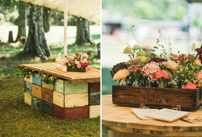 Bohemian new zealand beach wedding sophie jason palette table wooden palette tables junglespirit Image collections