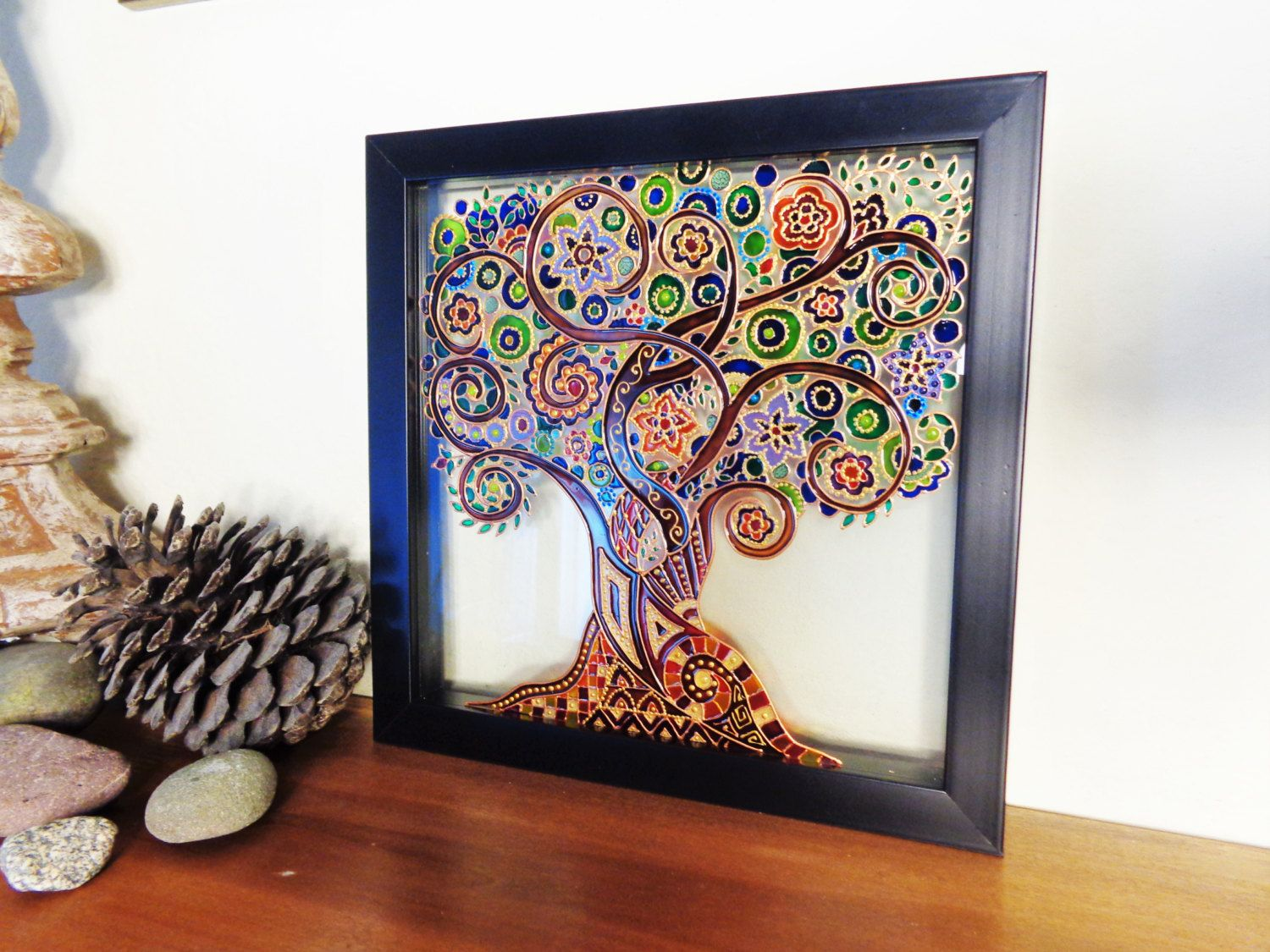 Tree of life Art Glass painting Painted glass Tree of life ...