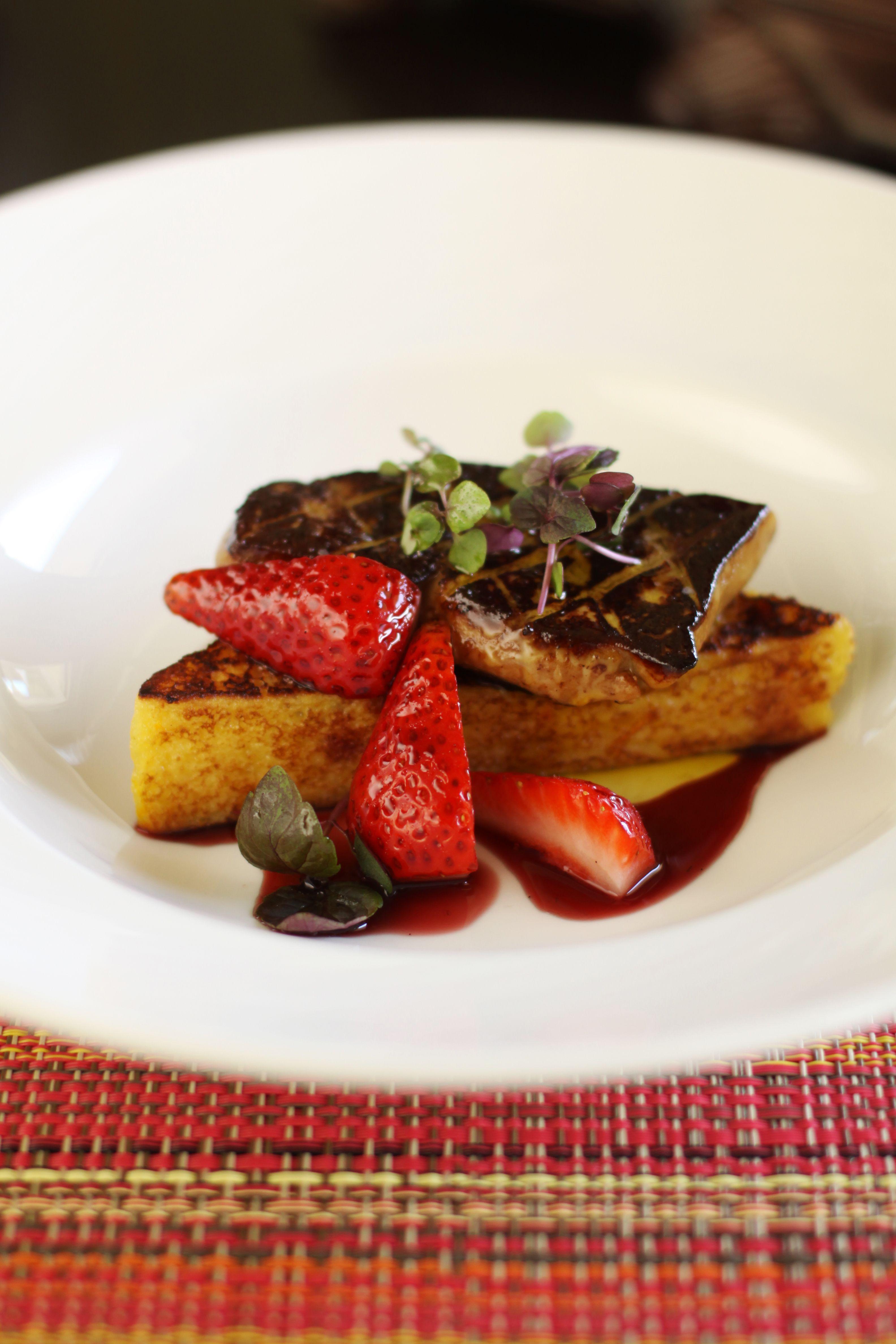 Hudson Valley Fois Gras Grand Marnier French Toast Kula Strawberries Red Wine Vanilla Reduction Tasty Dishes Food Hawaiian Restaurant