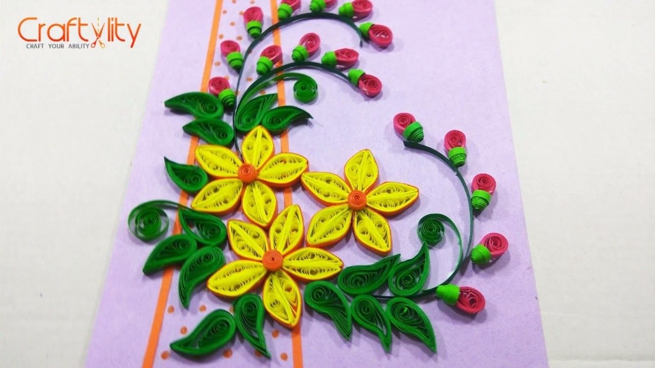 Diy Paper Quilling Card Quilling Pinterest Birthday Greeting