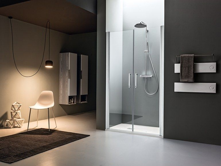 Niche Shower Cabin With Hinged Door Dedalo Collection By Arblu