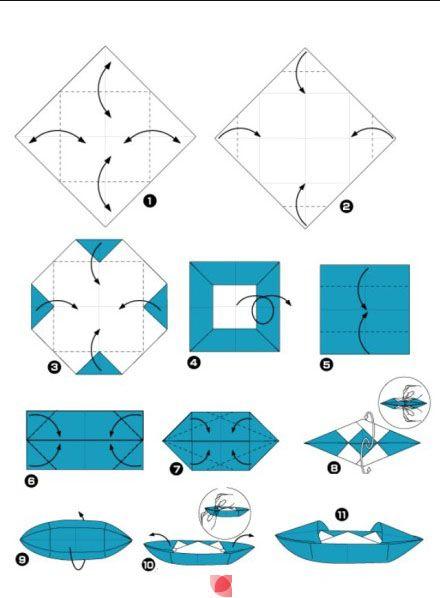 Origami Boot Quadrat