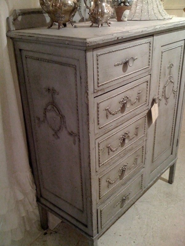 Gorgeous Shabby Chic Cabinet In Gray Painted Furniture Pinterest Shabby Chic Cabinet