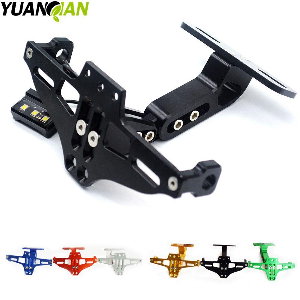Motorcycle Adjustable Angle License Number Plate Frame Holder ...