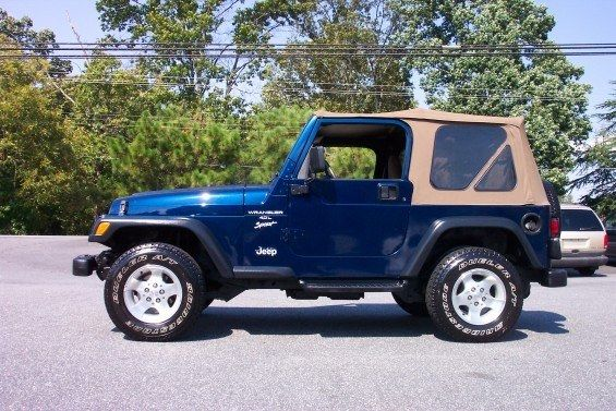 Jeep Wrangler With A Soft Top.