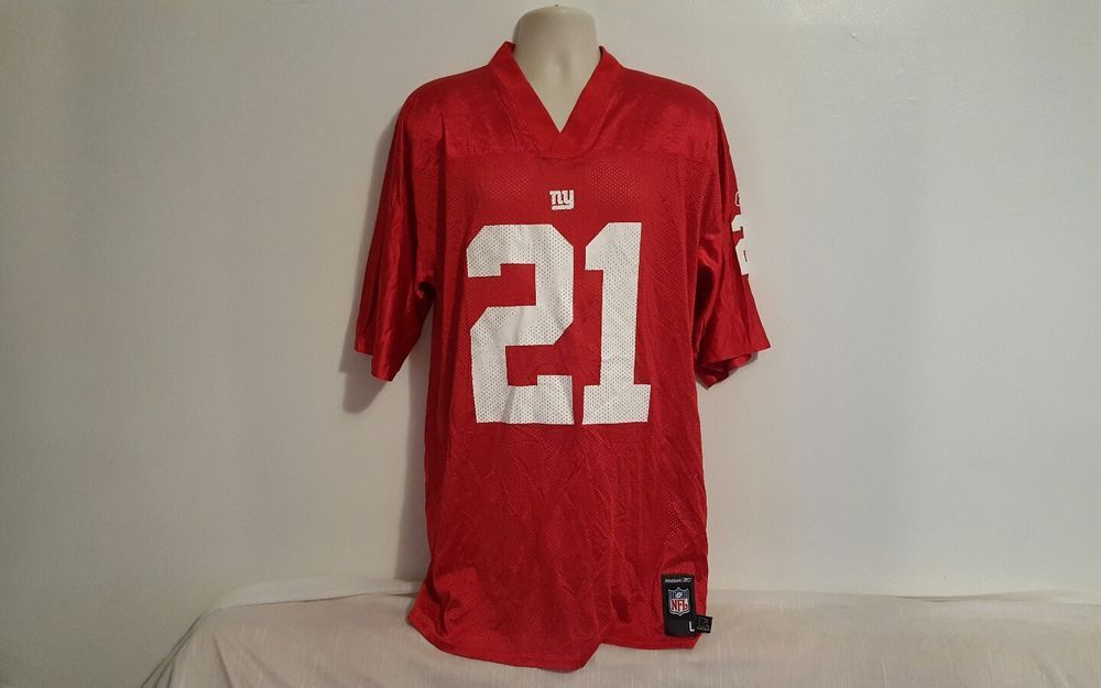 check out 89132 ee4cf Details about Tiki Barber #21 New York Giants NFL Red Reebok ...