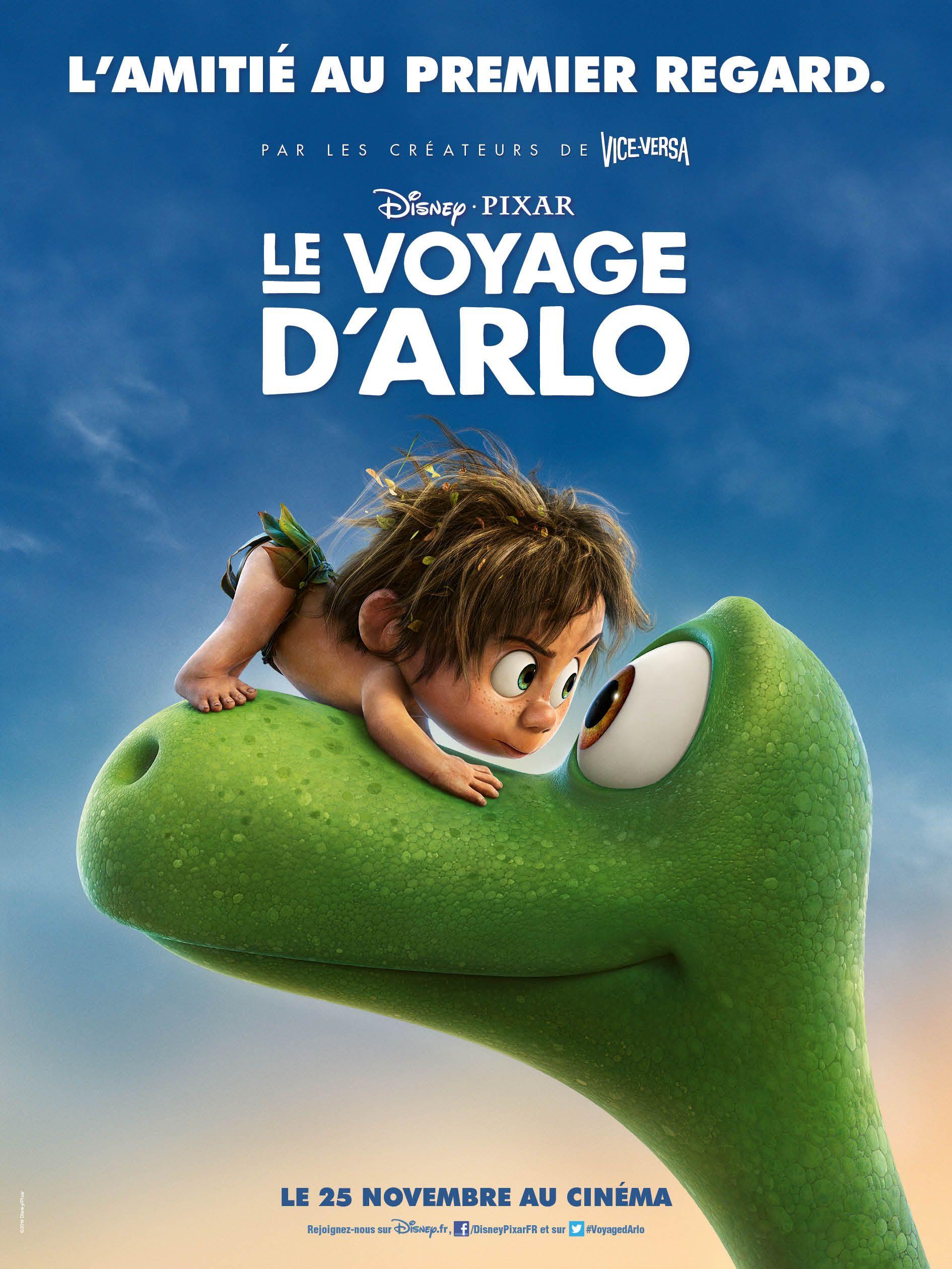 Le Voyage D Arlo Une Affiche De Jour Et De Nuit Le Voyage D Arlo Pixar Disney