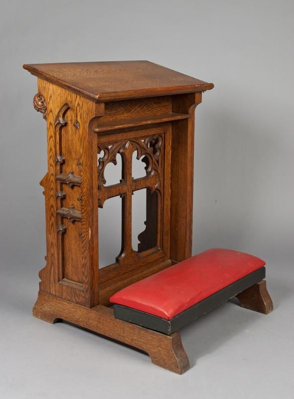 Antique Oak Kneeler With Cross Churches Pinterest