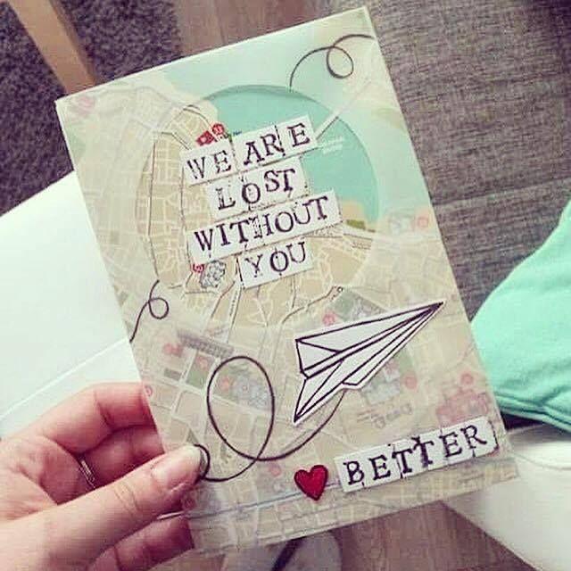 A Farewell Postcard For A Colleague Who Changed Job D Diy Handmade Inspiration Idea Paper Diy Gift Card Creative Cards Diy Postcard