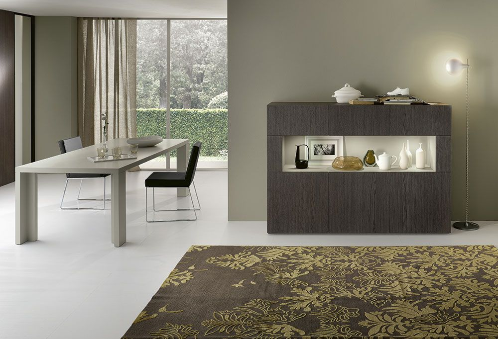 Complementi by alf dafr metropolis madia con vano a for Interior design italiani