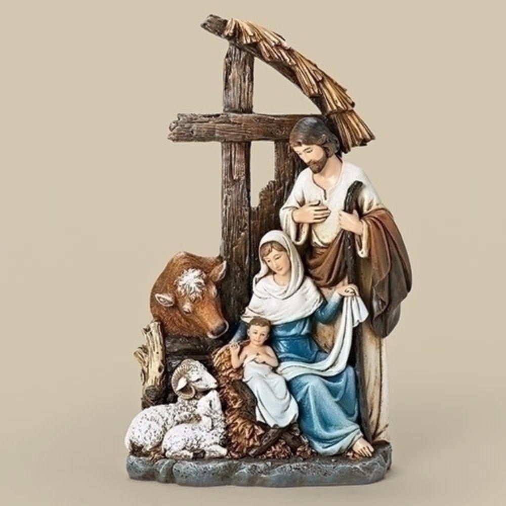Thomas kinkade o holy night christmas stocking - Holy Family Jesus Mary And Joseph Nativity Scene Statue