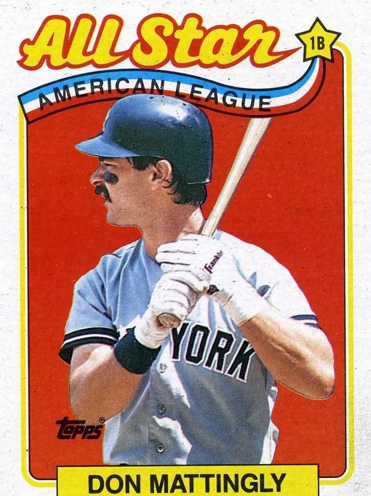Rare 1989 Topps All Star Don Mattingly New York Yankees Mint Baseball Cards Don Mattingly New York Yankees Baseball