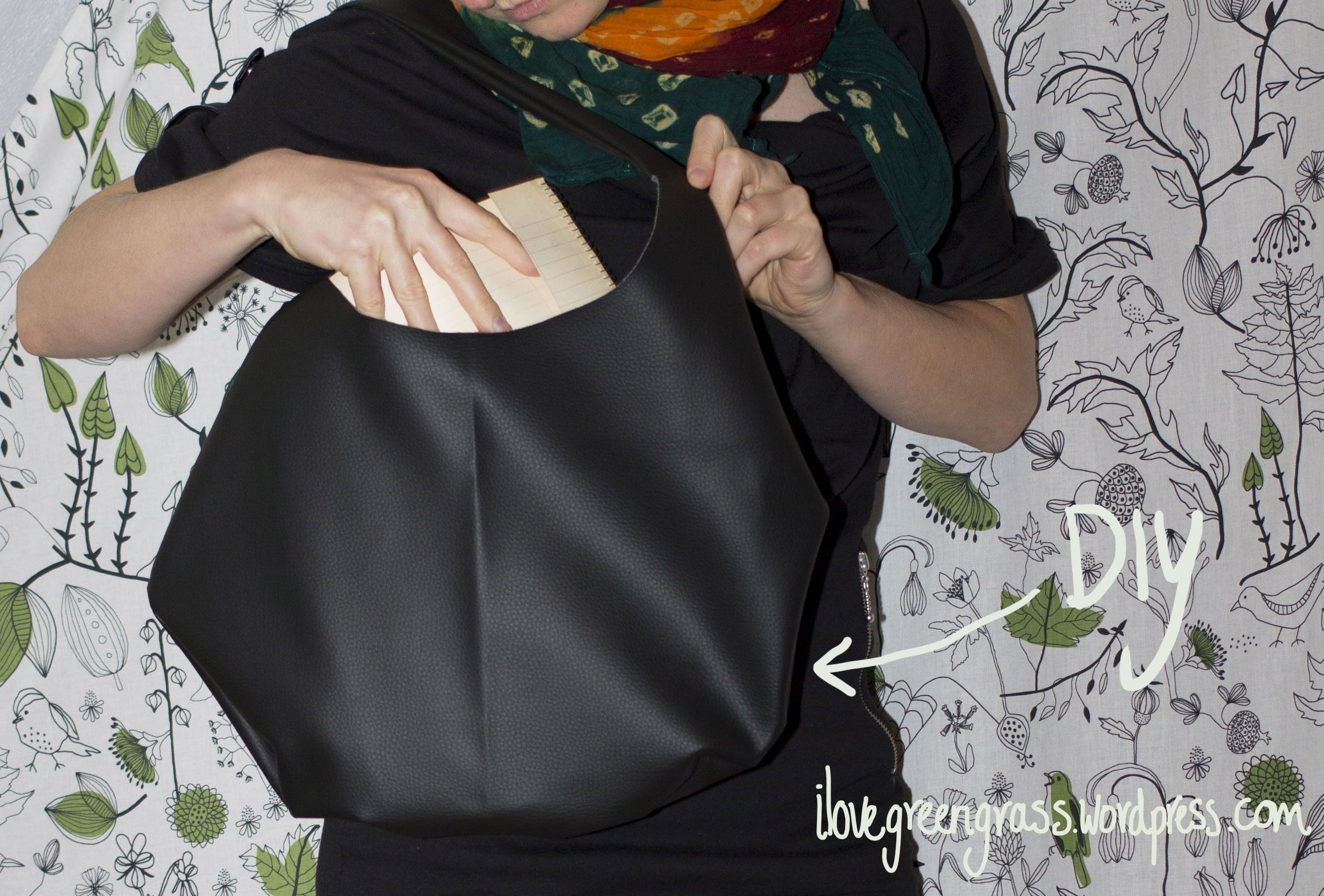 Faux Leather Handbag - Free Sewing Pattern and Tutorial | Nähen ...