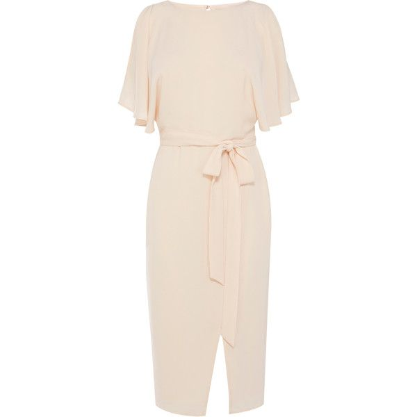 Workwear Dresses & Outfits | Pinks ELINA COLD SHOULDER DRESS | Coast... ❤ liked on Polyvore featuring tops, pink top, cut-out shoulder tops, cut shoulder tops, open shoulder top and cut out shoulder tops