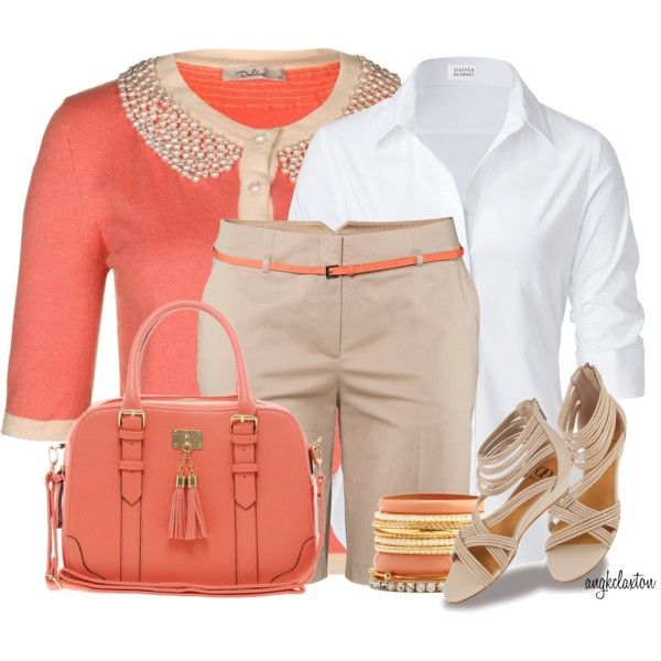Collared Cardigan, created by angkclaxton on Polyvore