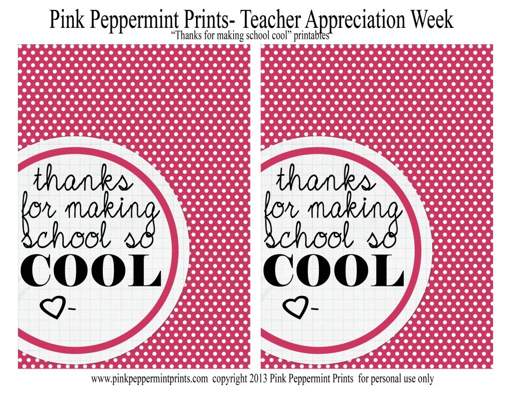 photo about Cool Printables named Free of charge Instructor Appreciation Printables PDF Because of for creating