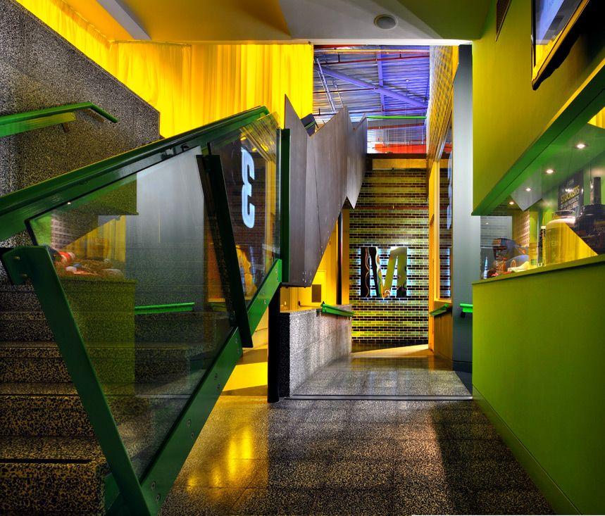 Gymbox Westfield Leisure Bkd Design Gym Interior Commercial Interiors
